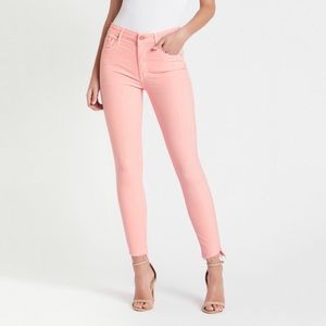 NWT Mother The Looker Ankle Step Fray Pale Pink